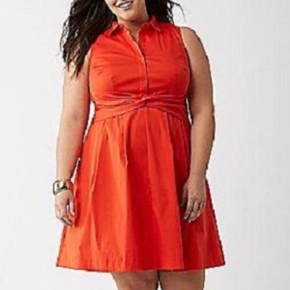 Lane Bryant Dresses & Skirts - Lane Bryant Dress Plus 24 Lela Rose Red Sleeveless